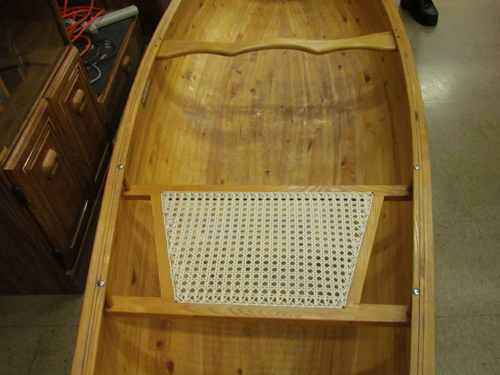 Wood Canoe Seat at Meeting