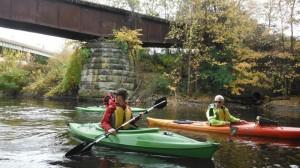 Ashley and Lorraine on swan Creek 11-04-2013
