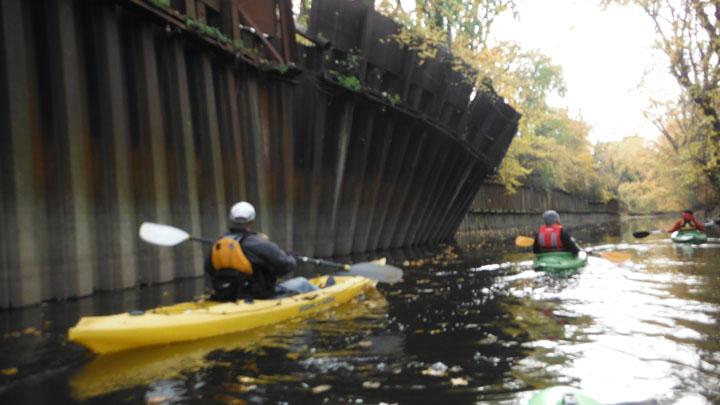 Piings leaning a little near Art Iron Swan Creek 11-04-2013