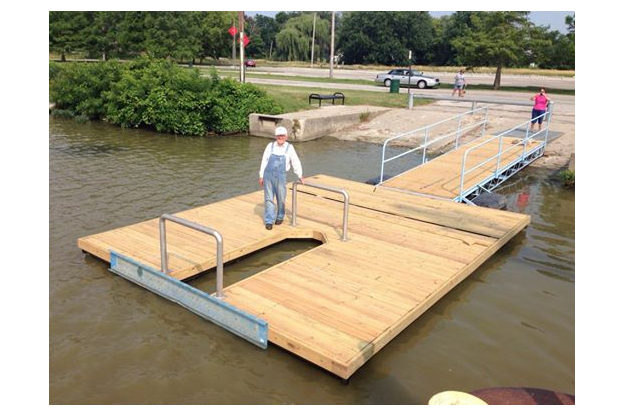 New Dock with Don standing on it 8-1-2014